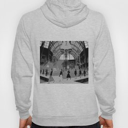 iconic runway industrial black and white Hoody