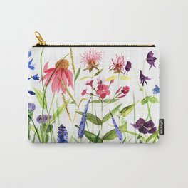 Botanical Colorful Flower Wildflower Watercolor Illustration Tasche