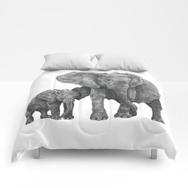 African Elephant and Calf Comforters