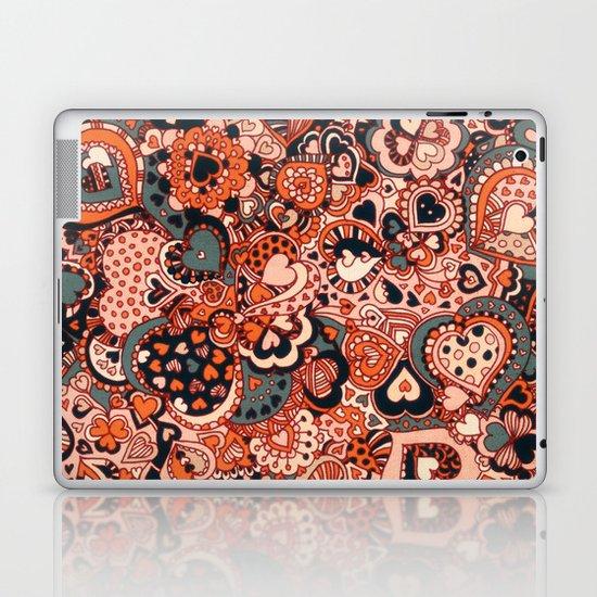 Doodle hearts Laptop & iPad Skin