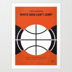 No436 My White Men Cant Jump minimal movie poster Art Print