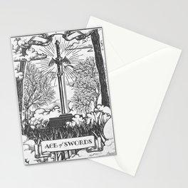 Legend of Zelda Master Sword Vintage Tarot Scene Stationery Cards