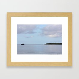 Treasure Island Photo Framed Art Print