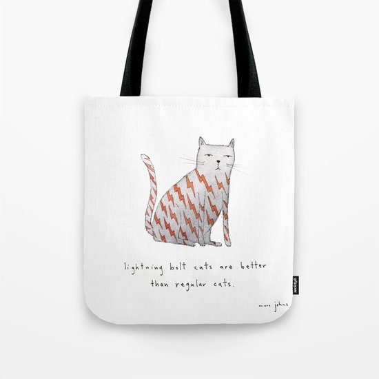 lightning bolt cats are better Tote Bag