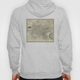 Vintage Map of Edinburgh Scotland (1844) Hoody