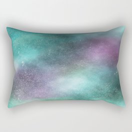 Cosmic Stars Blue Purple and Green Rectangular Pillow