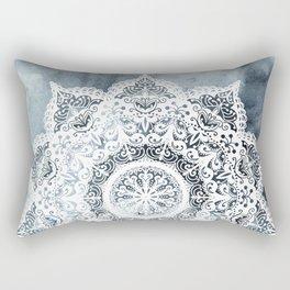 Dreamer Mandala Blue Rectangular Pillow