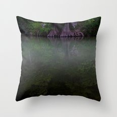 Jade Reflections Throw Pillow