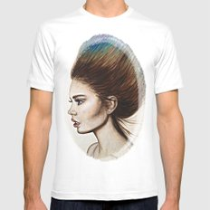 Ombre Hair MEDIUM Mens Fitted Tee White