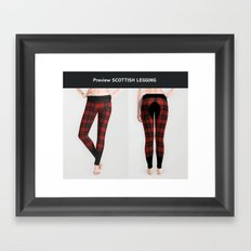Scottish legging Framed Art Print