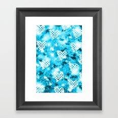 Heart Pattern Framed Art Print