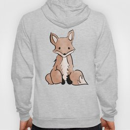 Cute Watercolor Fox Painting Hoody