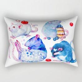 Sweet Rats Rectangular Pillow