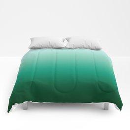 Ombre Teal Green Gradient Pattern Comforters