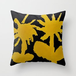 fistful of dandelions Throw Pillow