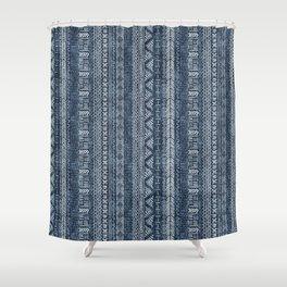 Mud Cloth Stripe Shower Curtain
