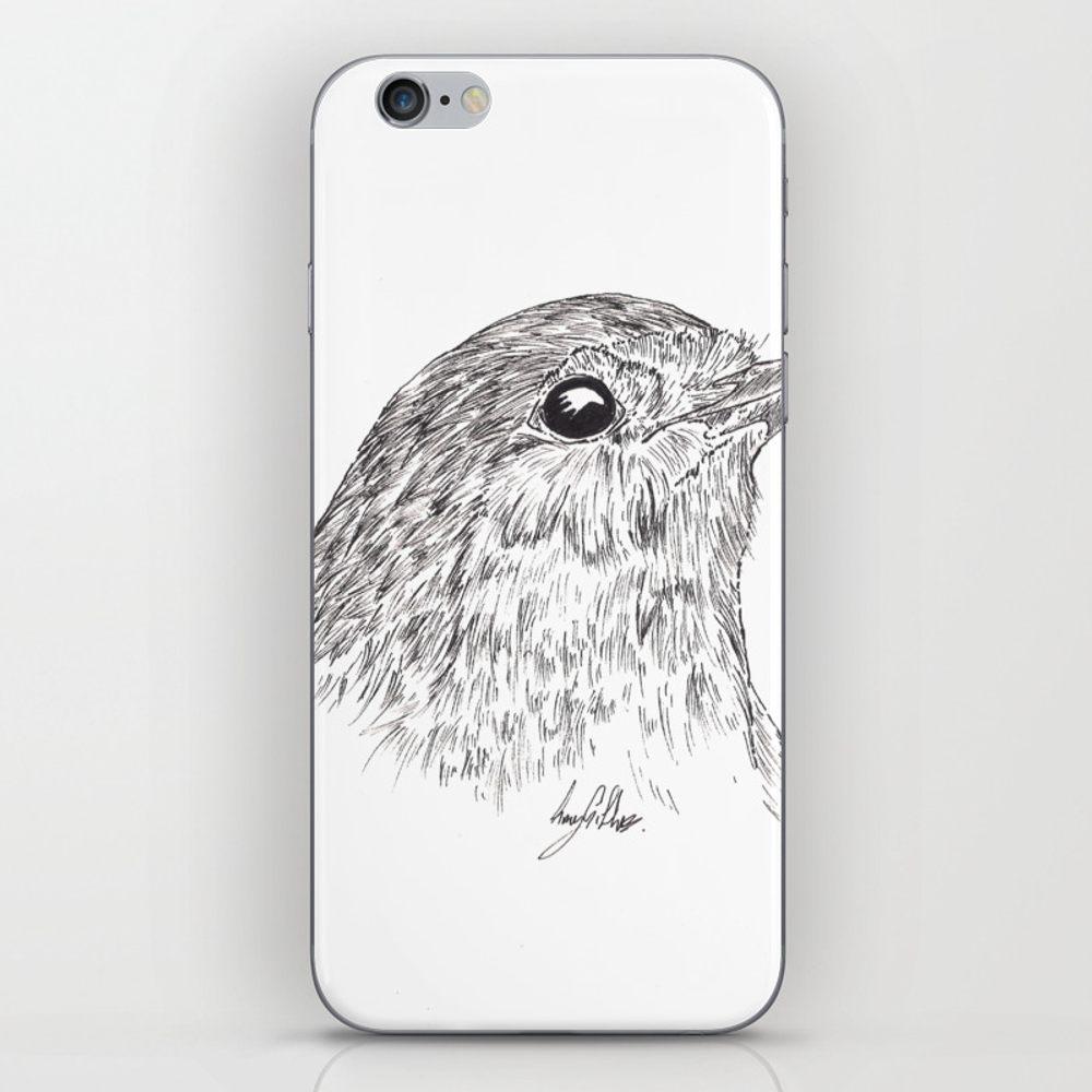 Robin Redbreast Iphone & Ipod Skin by Gillifish (PSK8878248) photo
