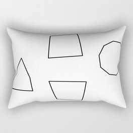 Let's Love Our Shapes! no.2 - Geometric Minimalism Rectangular Pillow