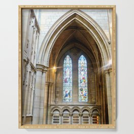 Stained Glass in Truro Cathedral Serving Tray
