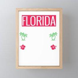Florida Cities Miami Tallahassee Orlando Jacksonville Fort Lauderdale Tampa St Petersburg Framed Mini Art Print