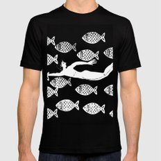 The joy of the fishes Mens Fitted Tee Black MEDIUM