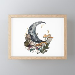 Mushroom Moon Framed Mini Art Print