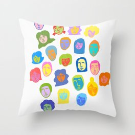 Everyday People Throw Pillow