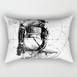 Love and Geometry. INK ART. Yury Fadeev Rectangular Pillow