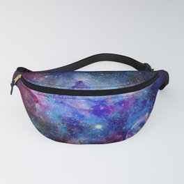 Blue Glitter Galaxy Fanny Pack