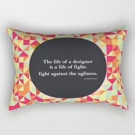 The life of a designer Rectangular Pillow