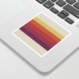 Retro Video Cassette Color Palette Sticker
