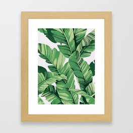 Tropical banana leaves V Framed Art Print