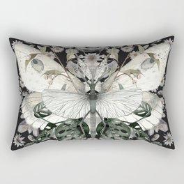Garden Magic Black Rectangular Pillow