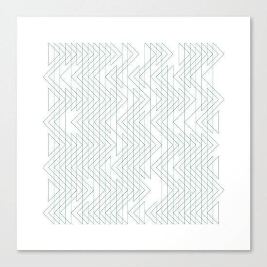 #402 Shoal x-ray – Geometry Daily Canvas Print