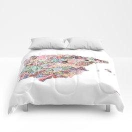 Spain map Comforters