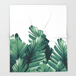 Green Banana Leaves Dream #1 #tropical #decor #art #society6 Throw Blanket