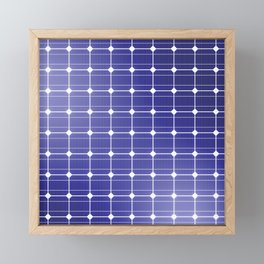 In charge / 3D render of solar panel texture Framed Mini Art Print