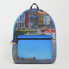 The Canals Of Ghent, Belgium Backpack