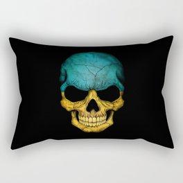 Dark Skull with Flag of Ukraine Rectangular Pillow