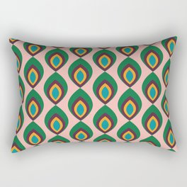 Peacock feather pink #homedecor #midcenturydecor Rectangular Pillow