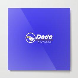 dal dodo airline ac animal crossing Metal Print