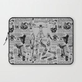 Da Vinci's Anatomy Sketchbook // Silver Laptop Sleeve