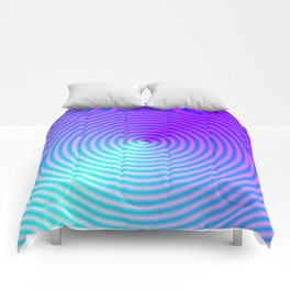 Coiled in Blue and Pink Comforters