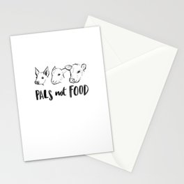Pals Not Food Illustration by Laura Tubb Stationery Cards