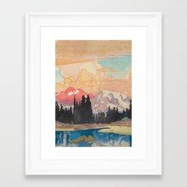 Storms over Keiisino Framed Art Print