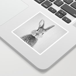 Rabbit - Black & White Sticker
