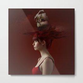 Sailing - Red Metal Print