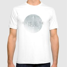 In Other Words MEDIUM White Mens Fitted Tee