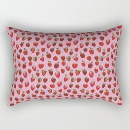 Pattern - real pressed strawberry pattern Rectangular Pillow