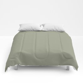 Dunn and Edwards Flagstone Quartzite (Green) DET517 Solid Color Comforters